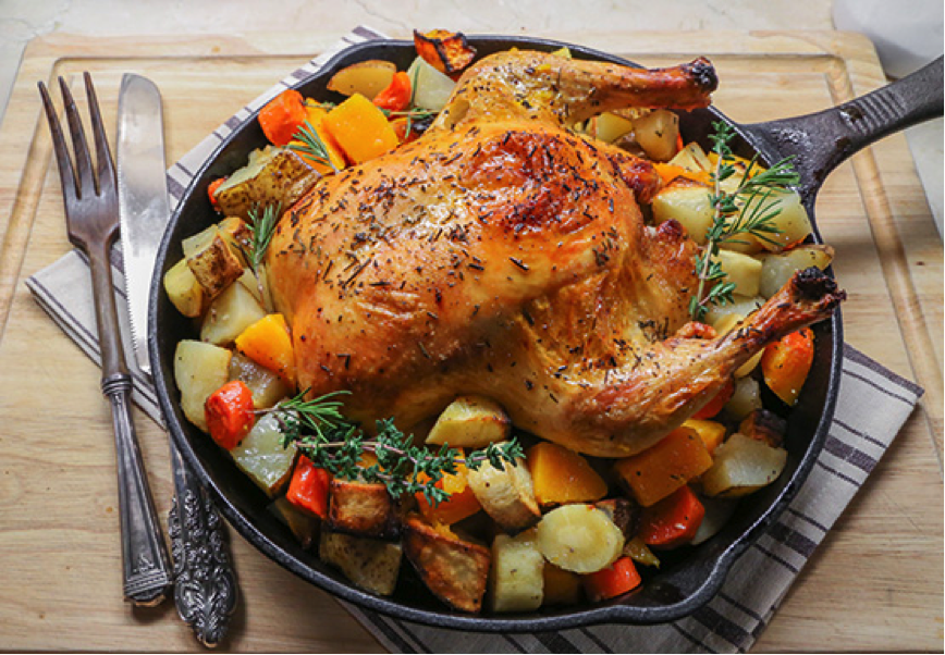 Delicious Organic Roasted Chicken