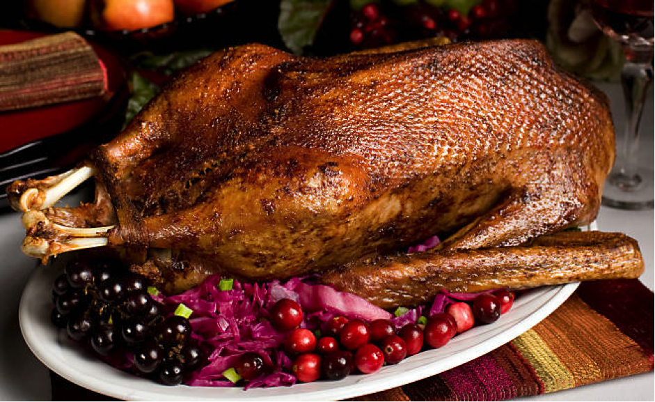 Delicious Organic Roasted Goose